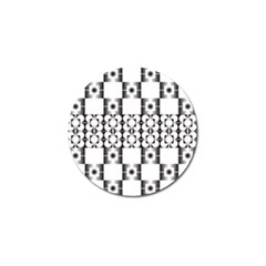 Pattern Background Texture Black Golf Ball Marker by BangZart