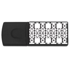 Pattern Background Texture Black Usb Flash Drive Rectangular (4 Gb) by BangZart