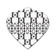 Pattern Background Texture Black Dog Tag Heart (two Sides) by BangZart