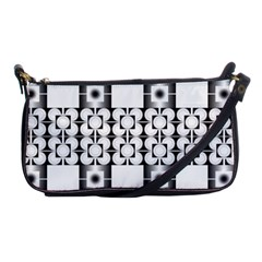 Pattern Background Texture Black Shoulder Clutch Bags by BangZart