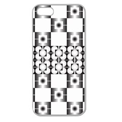 Pattern Background Texture Black Apple Seamless Iphone 5 Case (clear) by BangZart
