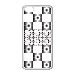 Pattern Background Texture Black Apple Iphone 5c Seamless Case (white) by BangZart