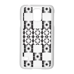 Pattern Background Texture Black Samsung Galaxy S5 Case (white) by BangZart