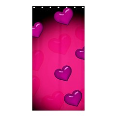 Background Heart Valentine S Day Shower Curtain 36  X 72  (stall)