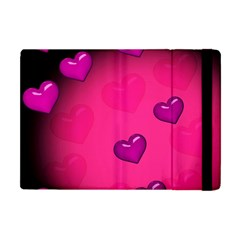Background Heart Valentine S Day Apple Ipad Mini Flip Case by BangZart
