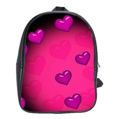 Background Heart Valentine S Day School Bags (xl)  by BangZart