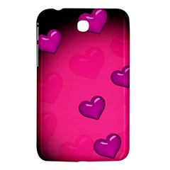 Background Heart Valentine S Day Samsung Galaxy Tab 3 (7 ) P3200 Hardshell Case  by BangZart