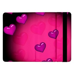 Background Heart Valentine S Day Samsung Galaxy Tab Pro 12 2  Flip Case by BangZart