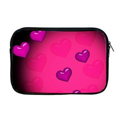 Background Heart Valentine S Day Apple Macbook Pro 17  Zipper Case by BangZart