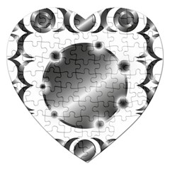 Metal Circle Background Ring Jigsaw Puzzle (heart) by BangZart
