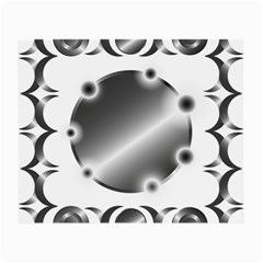 Metal Circle Background Ring Small Glasses Cloth
