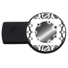 Metal Circle Background Ring Usb Flash Drive Round (4 Gb) by BangZart