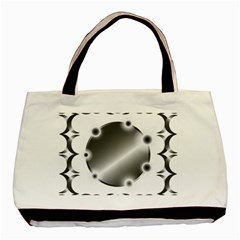 Metal Circle Background Ring Basic Tote Bag (two Sides) by BangZart