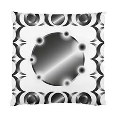 Metal Circle Background Ring Standard Cushion Case (two Sides) by BangZart