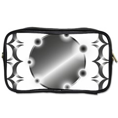 Metal Circle Background Ring Toiletries Bags
