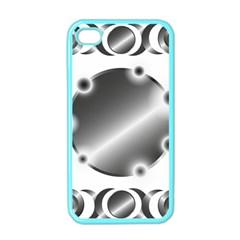 Metal Circle Background Ring Apple Iphone 4 Case (color) by BangZart