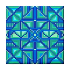 Grid Geometric Pattern Colorful Tile Coasters