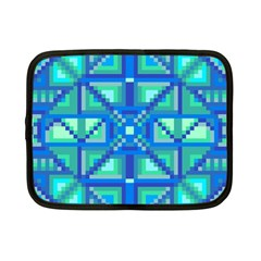Grid Geometric Pattern Colorful Netbook Case (small)  by BangZart
