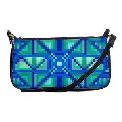 Grid Geometric Pattern Colorful Shoulder Clutch Bags by BangZart