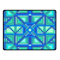 Grid Geometric Pattern Colorful Fleece Blanket (small) by BangZart