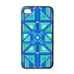 Grid Geometric Pattern Colorful Apple Iphone 4 Case (black) by BangZart