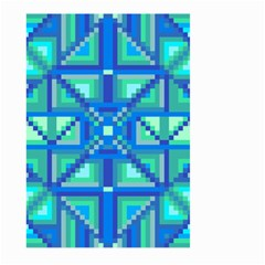 Grid Geometric Pattern Colorful Large Garden Flag (two Sides)