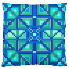 Grid Geometric Pattern Colorful Large Cushion Case (one Side) by BangZart