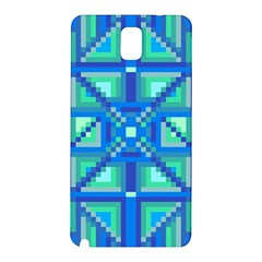 Grid Geometric Pattern Colorful Samsung Galaxy Note 3 N9005 Hardshell Back Case by BangZart