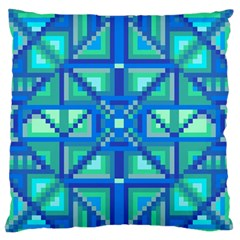 Grid Geometric Pattern Colorful Large Flano Cushion Case (two Sides) by BangZart