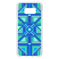 Grid Geometric Pattern Colorful Samsung Galaxy S8 Plus White Seamless Case by BangZart