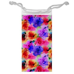 Floral Pattern Background Seamless Jewelry Bag