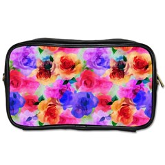 Floral Pattern Background Seamless Toiletries Bags 2 Side by BangZart