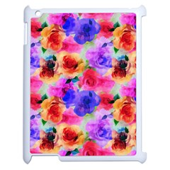 Floral Pattern Background Seamless Apple Ipad 2 Case (white) by BangZart