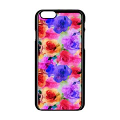 Floral Pattern Background Seamless Apple Iphone 6/6s Black Enamel Case by BangZart