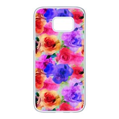 Floral Pattern Background Seamless Samsung Galaxy S7 Edge White Seamless Case