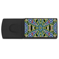 Kaleidoscope Background Usb Flash Drive Rectangular (4 Gb) by BangZart