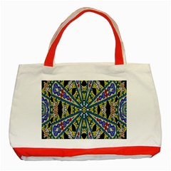 Kaleidoscope Background Classic Tote Bag (red) by BangZart