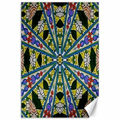Kaleidoscope Background Canvas 24  X 36  by BangZart