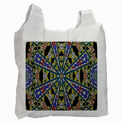 Kaleidoscope Background Recycle Bag (two Side)  by BangZart