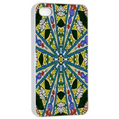 Kaleidoscope Background Apple Iphone 4/4s Seamless Case (white) by BangZart