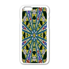 Kaleidoscope Background Apple Iphone 6/6s White Enamel Case
