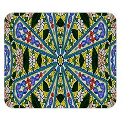 Kaleidoscope Background Double Sided Flano Blanket (small)  by BangZart