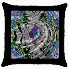 Water Ripple Design Background Wallpaper Of Water Ripples Applied To A Kaleidoscope Pattern Throw Pillow Case (black) by BangZart