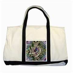 Water Ripple Design Background Wallpaper Of Water Ripples Applied To A Kaleidoscope Pattern Two Tone Tote Bag