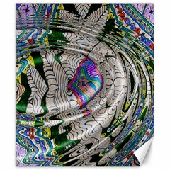 Water Ripple Design Background Wallpaper Of Water Ripples Applied To A Kaleidoscope Pattern Canvas 8  X 10  by BangZart