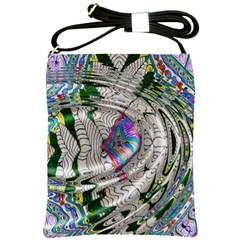 Water Ripple Design Background Wallpaper Of Water Ripples Applied To A Kaleidoscope Pattern Shoulder Sling Bags
