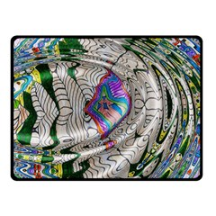 Water Ripple Design Background Wallpaper Of Water Ripples Applied To A Kaleidoscope Pattern Fleece Blanket (small) by BangZart