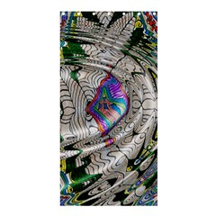Water Ripple Design Background Wallpaper Of Water Ripples Applied To A Kaleidoscope Pattern Shower Curtain 36  X 72  (stall)  by BangZart