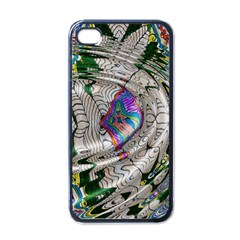 Water Ripple Design Background Wallpaper Of Water Ripples Applied To A Kaleidoscope Pattern Apple Iphone 4 Case (black) by BangZart