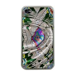 Water Ripple Design Background Wallpaper Of Water Ripples Applied To A Kaleidoscope Pattern Apple Iphone 4 Case (clear) by BangZart
